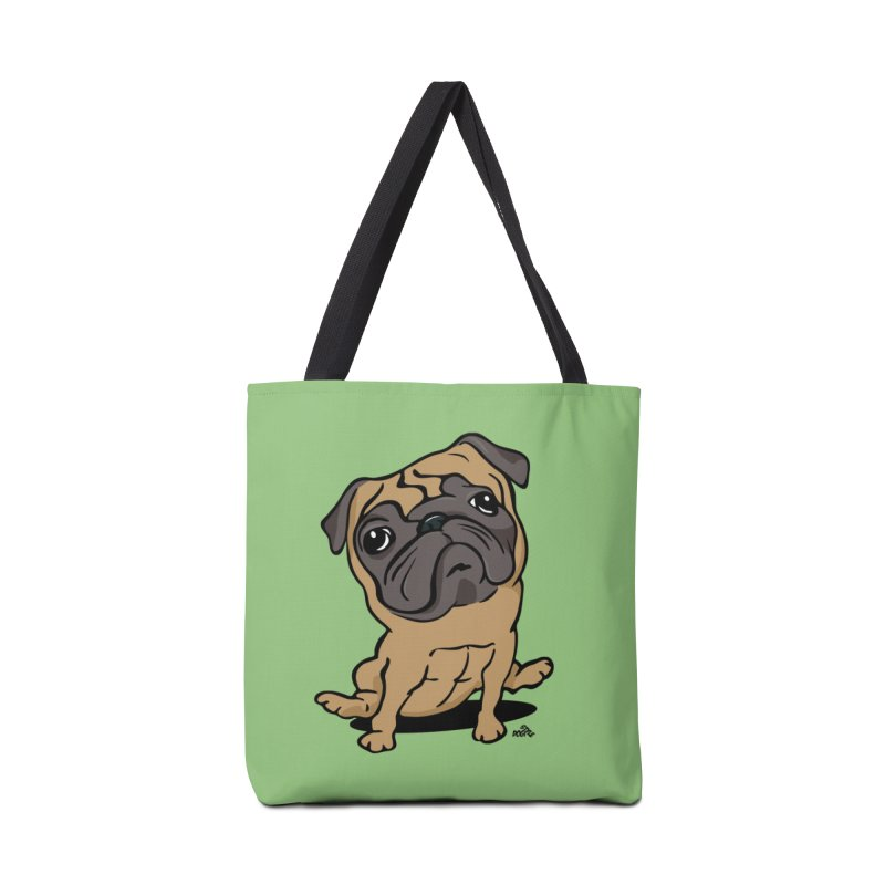 Pug cartoon dog breed t-shirt Accessories Bag by DogiStyle Dog Shirts