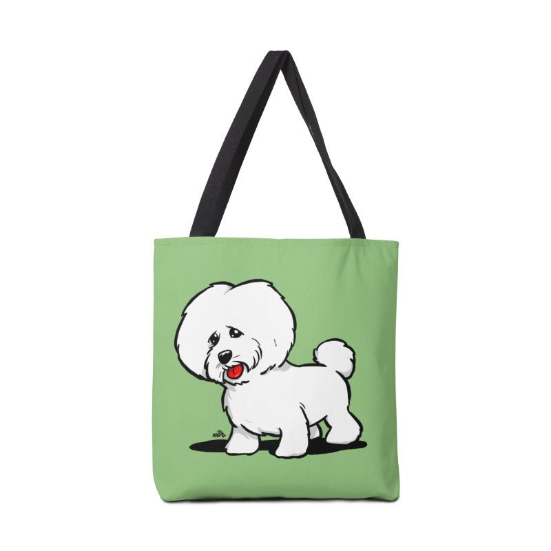Bichon frise cartoon dog breed t-shirt Accessories Bag by DogiStyle Dog Shirts