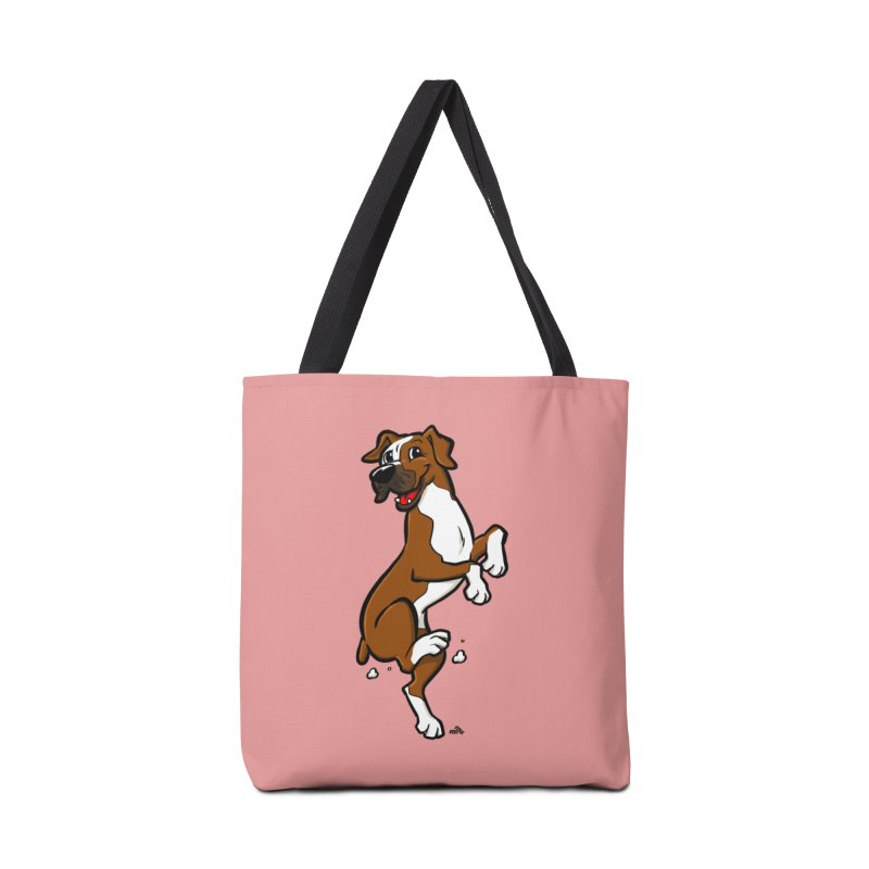 Boxer cartoon dog breed t-shirt Accessories Bag by DogiStyle Dog Shirts