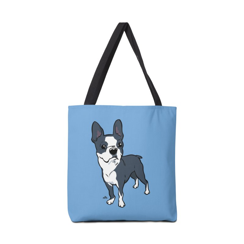 Boston terrier cartoon dog breed t-shirt Accessories Bag by DogiStyle Dog Shirts