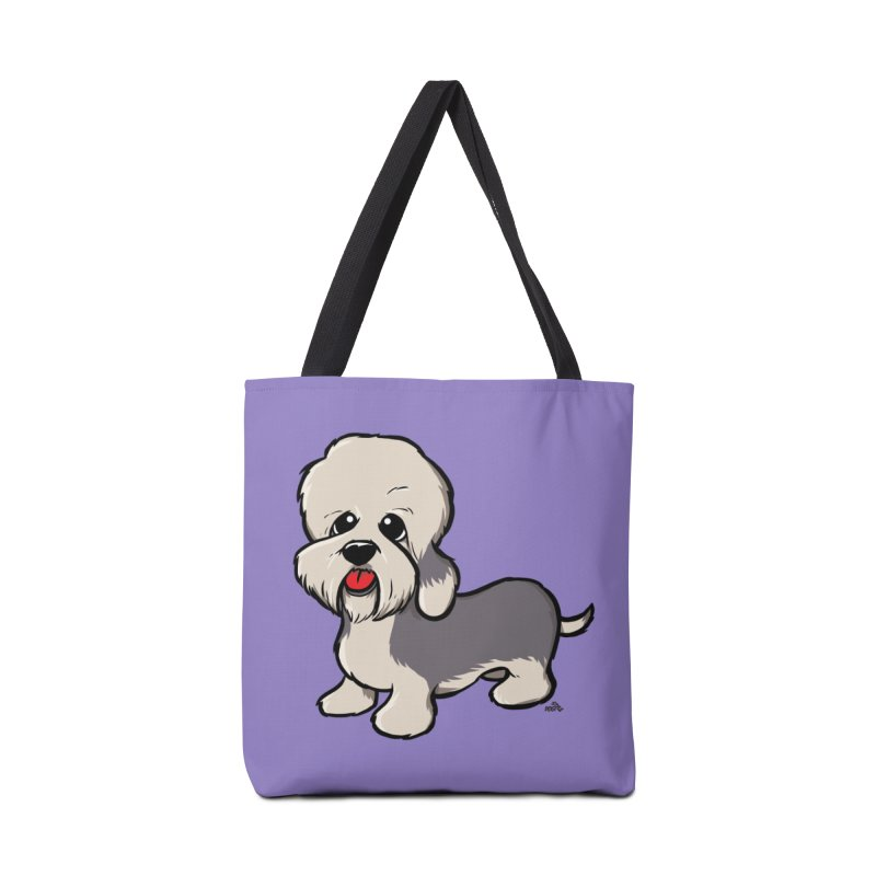 Dandie dinmont cartoon dog t-shirt Accessories Bag by DogiStyle Dog Shirts