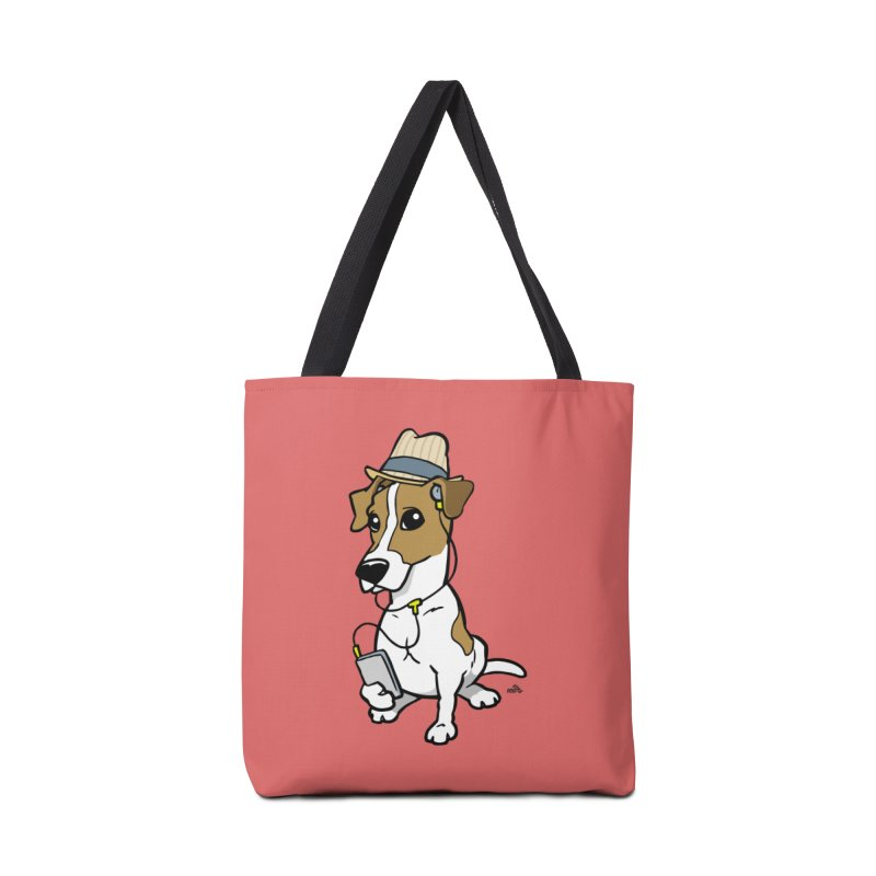 Hipster Jack Russell cartoon dog breed t-shirt Accessories Bag by DogiStyle Dog Shirts