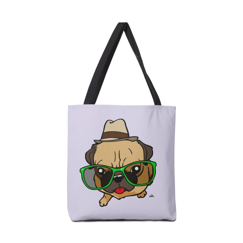 Hipster Pug cartoon dog t-shirt Accessories Bag by DogiStyle Dog Shirts