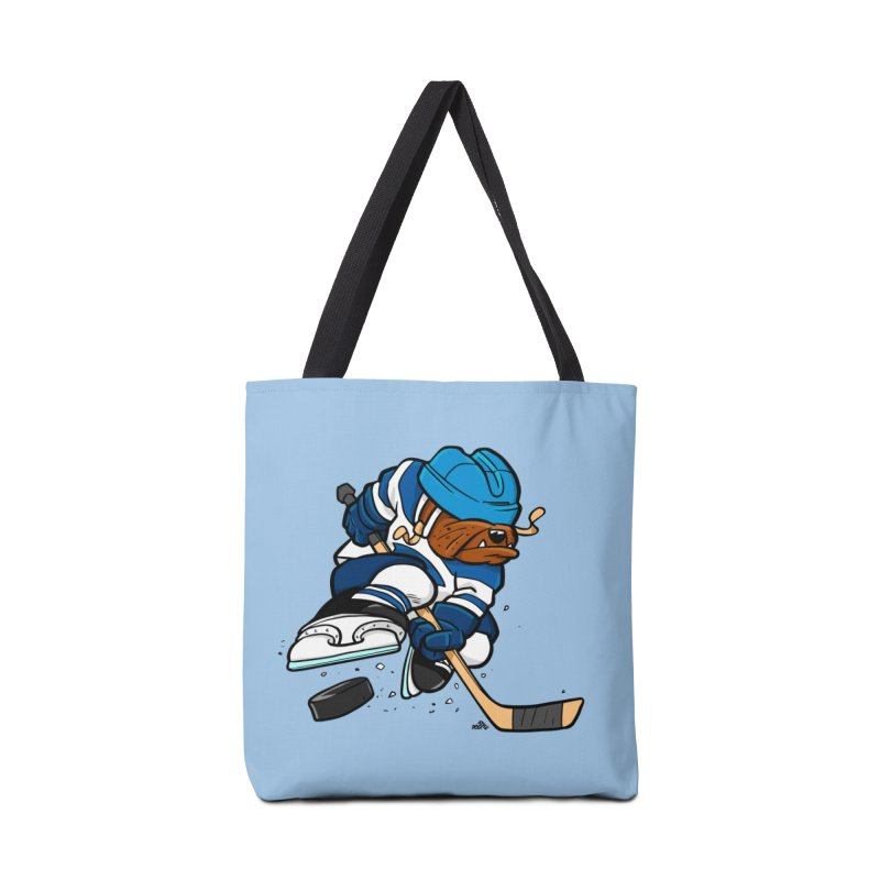 Hockey dog cartoon Accessories Bag by DogiStyle Dog Shirts