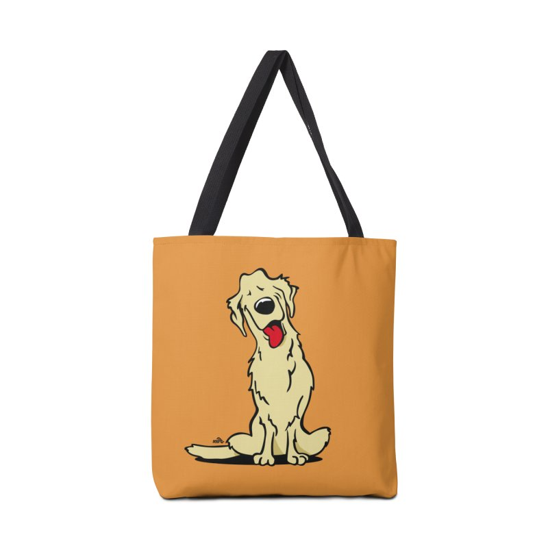 Golden retriever cartoon Accessories Bag by DogiStyle Dog Shirts
