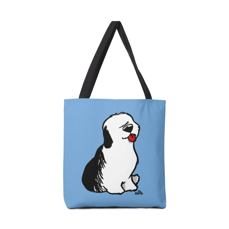 Old English Sheepdog cartoon t-shirt Accessories Bag by DogiStyle Dog Shirts