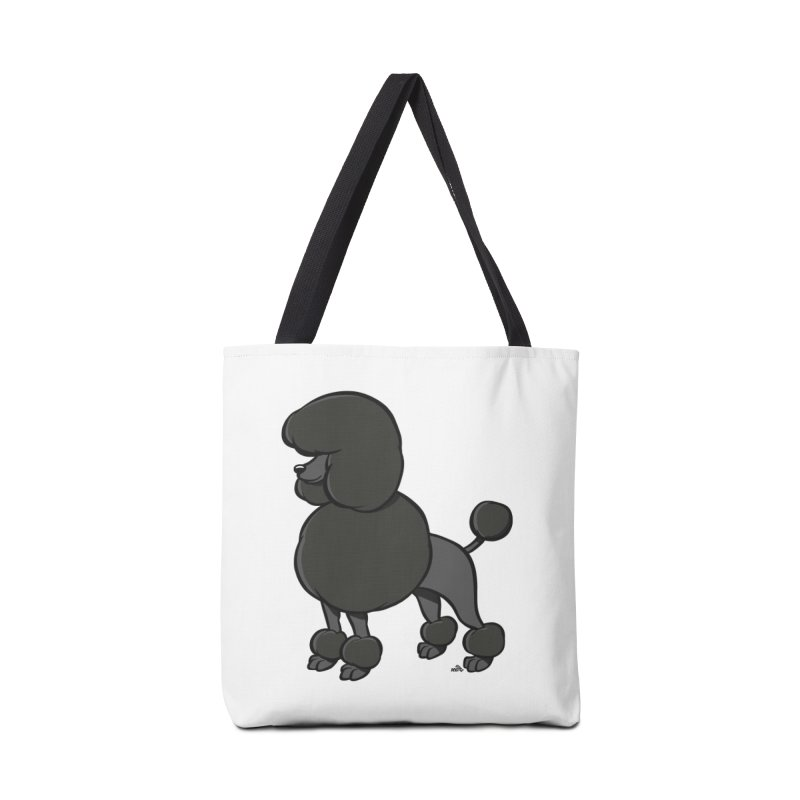 Poodle cartoon dog breed, black Accessories Bag by DogiStyle Dog Shirts