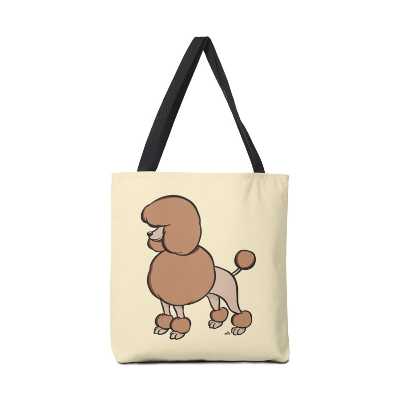 Poodle cartoon dog breed, brown Accessories Bag by DogiStyle Dog Shirts