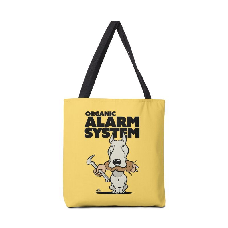 Pitbull cartoon dog, alarm system Accessories Bag by DogiStyle Dog Shirts