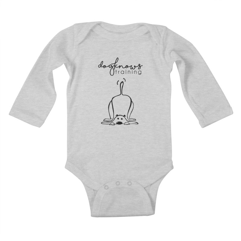 DogKnows Training Logo Kids Baby Longsleeve Bodysuit by DogKnows Shop