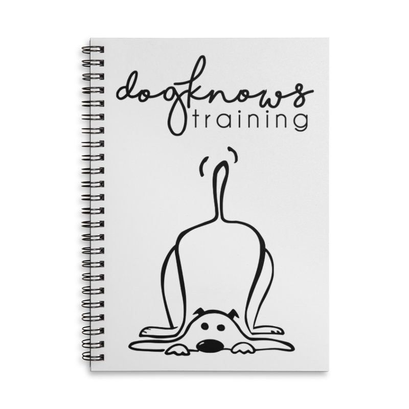 DogKnows Training Logo Accessories Lined Spiral Notebook by DogKnows Shop