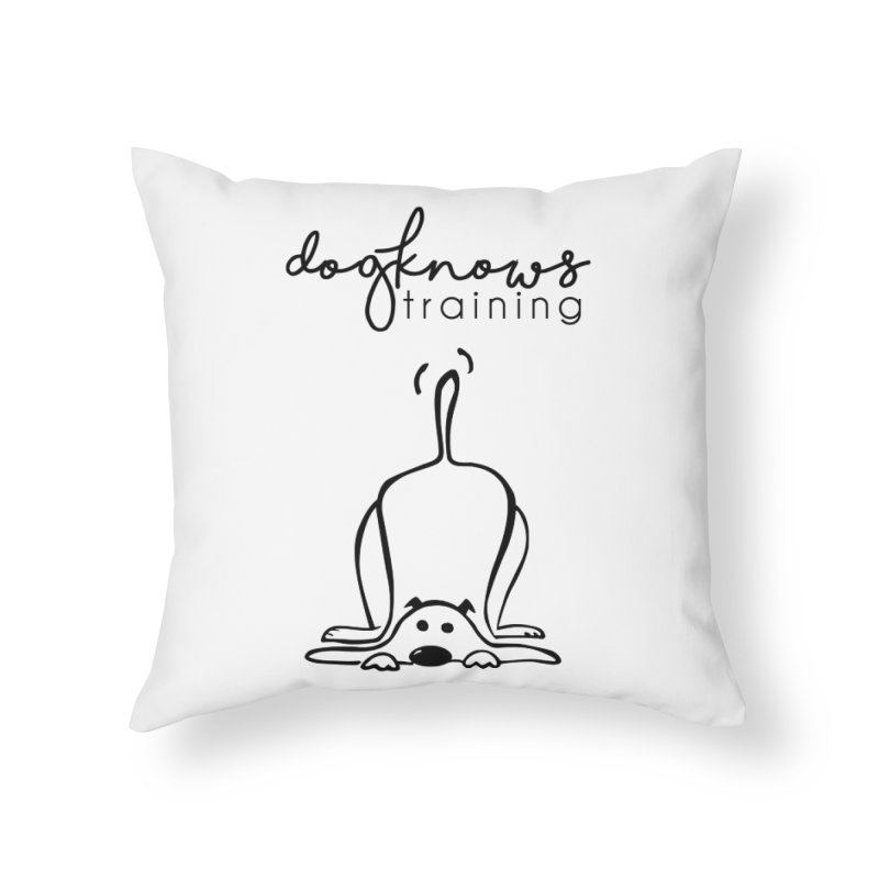 DogKnows Training Logo Home Throw Pillow by DogKnows Shop