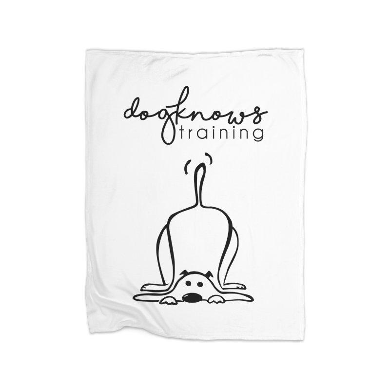 DogKnows Training Logo Home Fleece Blanket Blanket by DogKnows Shop