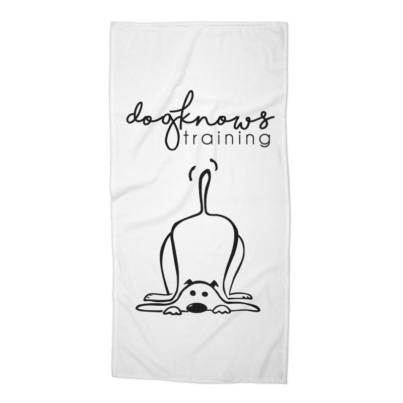 DogKnows Training Logo Accessories Beach Towel by DogKnows Shop