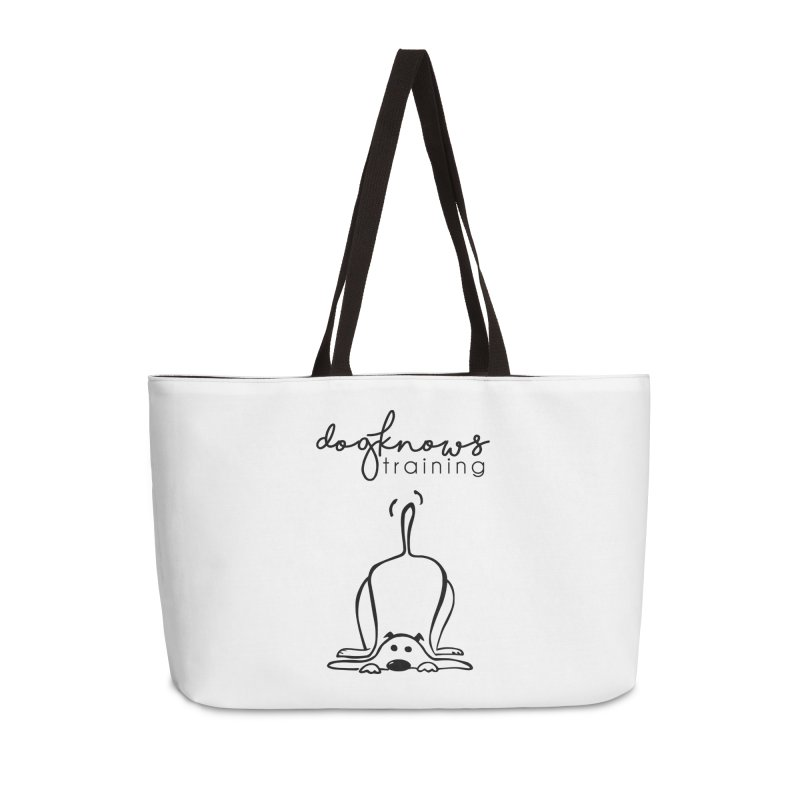 DogKnows Training Logo Accessories Weekender Bag Bag by DogKnows Shop