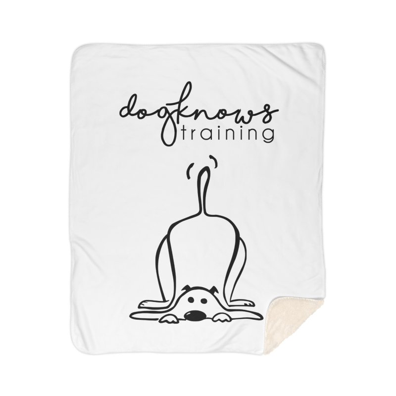 DogKnows Training Logo Home Sherpa Blanket Blanket by DogKnows Shop