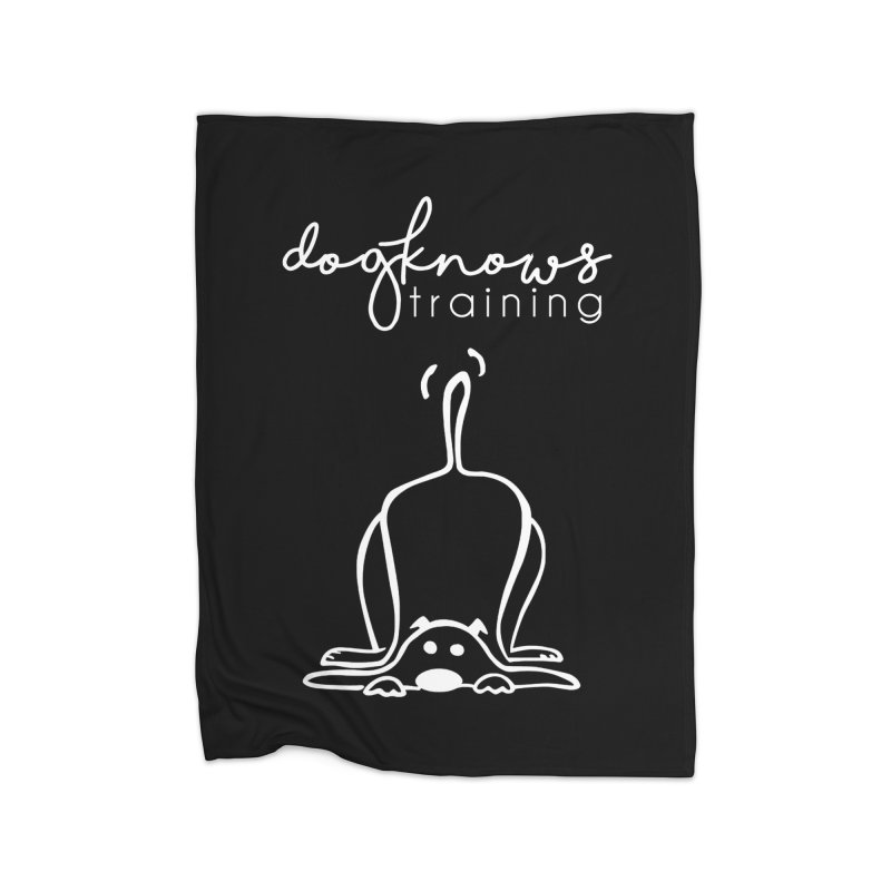 DogKnows Training in White Home Fleece Blanket Blanket by DogKnows Shop