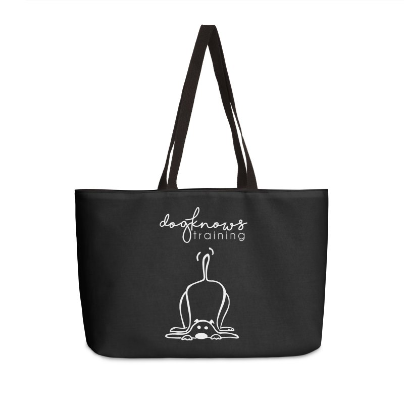 DogKnows Training in White Accessories Weekender Bag Bag by DogKnows Shop