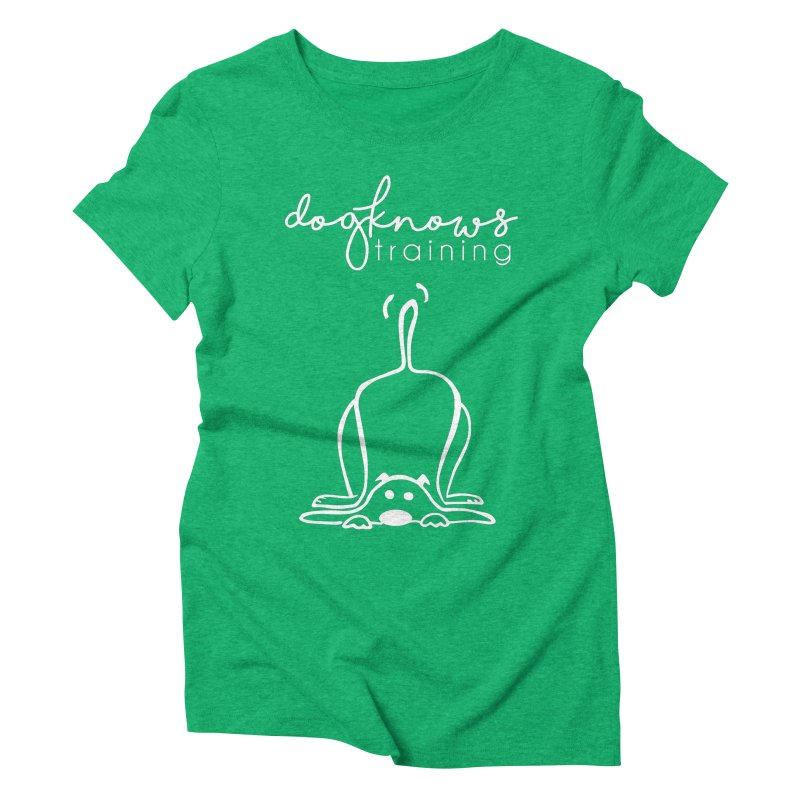 DogKnows Training in White Women's Triblend T-Shirt by DogKnows Shop
