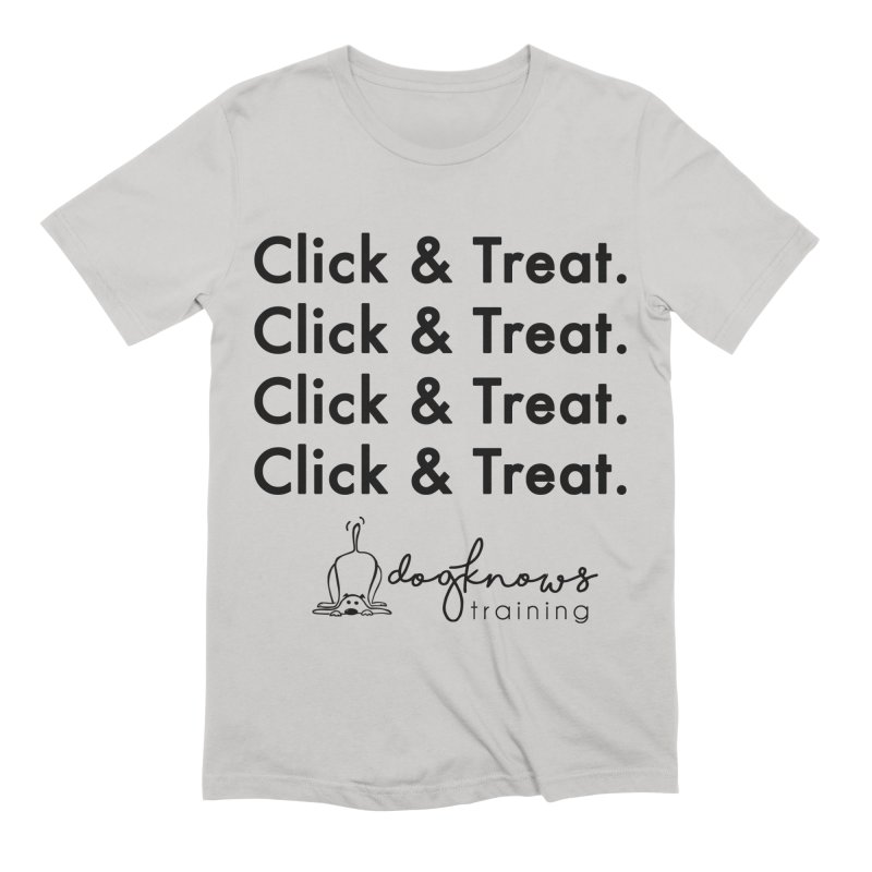 Click & Treat Men's Extra Soft T-Shirt by DogKnows Shop