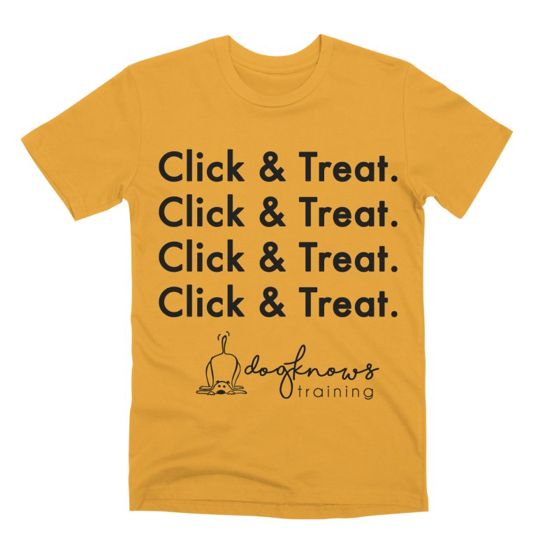 Click & Treat Men's Premium T-Shirt by DogKnows Shop
