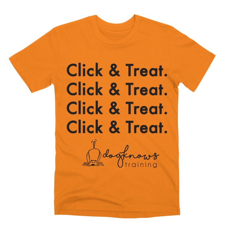 Click & Treat Men's T-Shirt by DogKnows Shop
