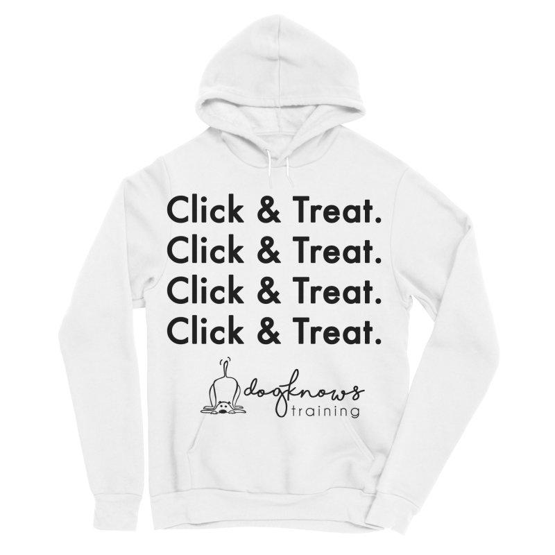 Click & Treat Women's Sponge Fleece Pullover Hoody by DogKnows Shop