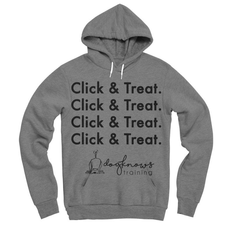 Click & Treat Men's Sponge Fleece Pullover Hoody by DogKnows Shop