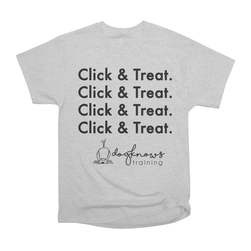 Click & Treat Men's Heavyweight T-Shirt by DogKnows Shop