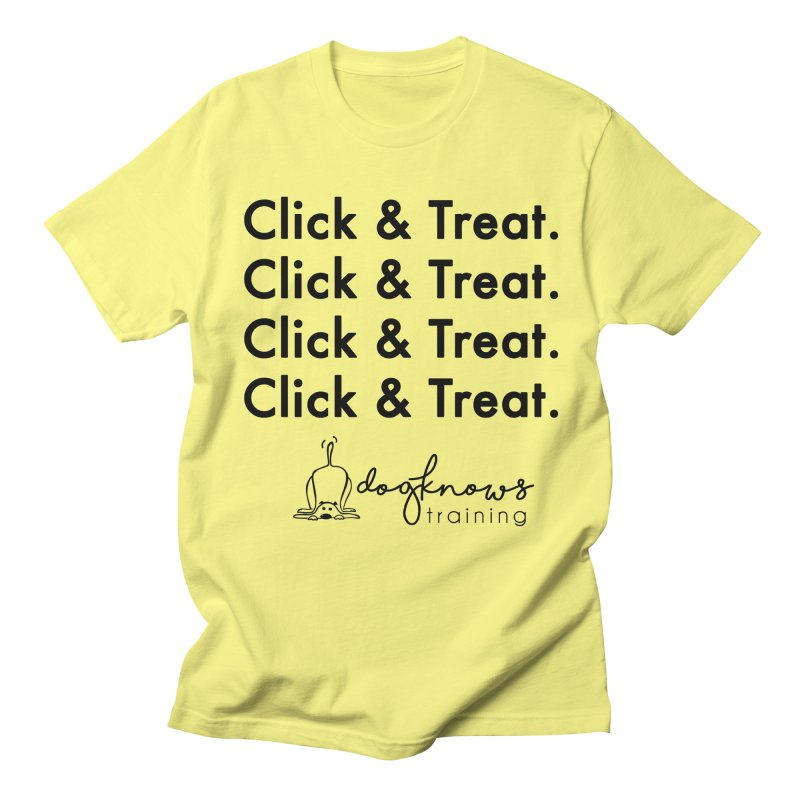 Click & Treat Men's Regular T-Shirt by DogKnows Shop