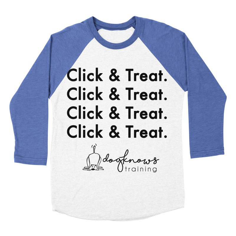 Click & Treat Men's Baseball Triblend Longsleeve T-Shirt by DogKnows Shop