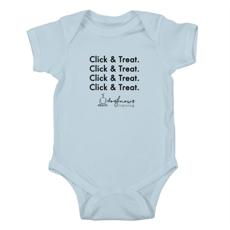 Click & Treat Kids Baby Bodysuit by DogKnows Shop