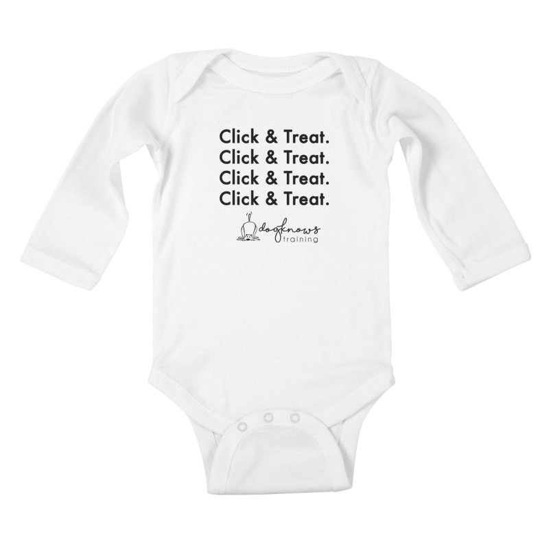Click & Treat Kids Baby Longsleeve Bodysuit by DogKnows Shop