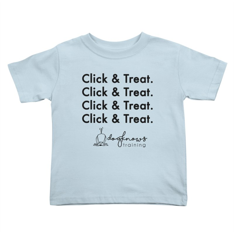Click & Treat Kids Toddler T-Shirt by DogKnows Shop