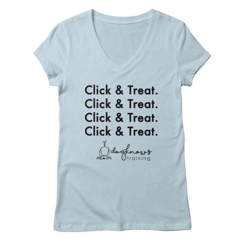 Click & Treat Women's V-Neck by DogKnows Shop