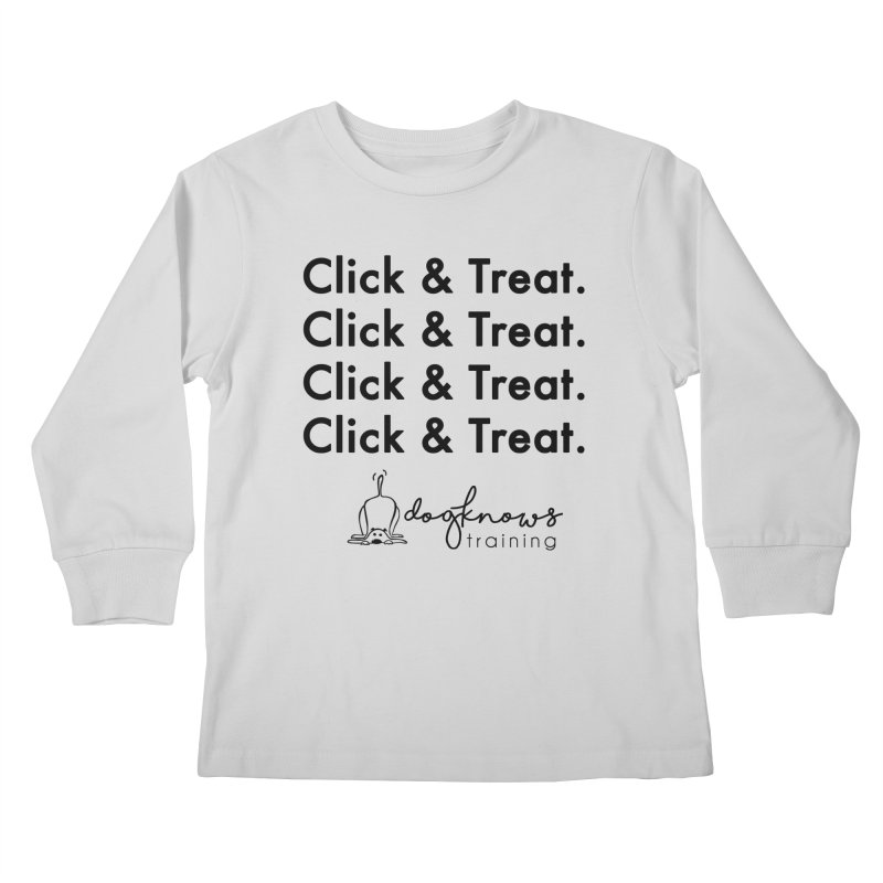 Click & Treat Kids Longsleeve T-Shirt by DogKnows Shop