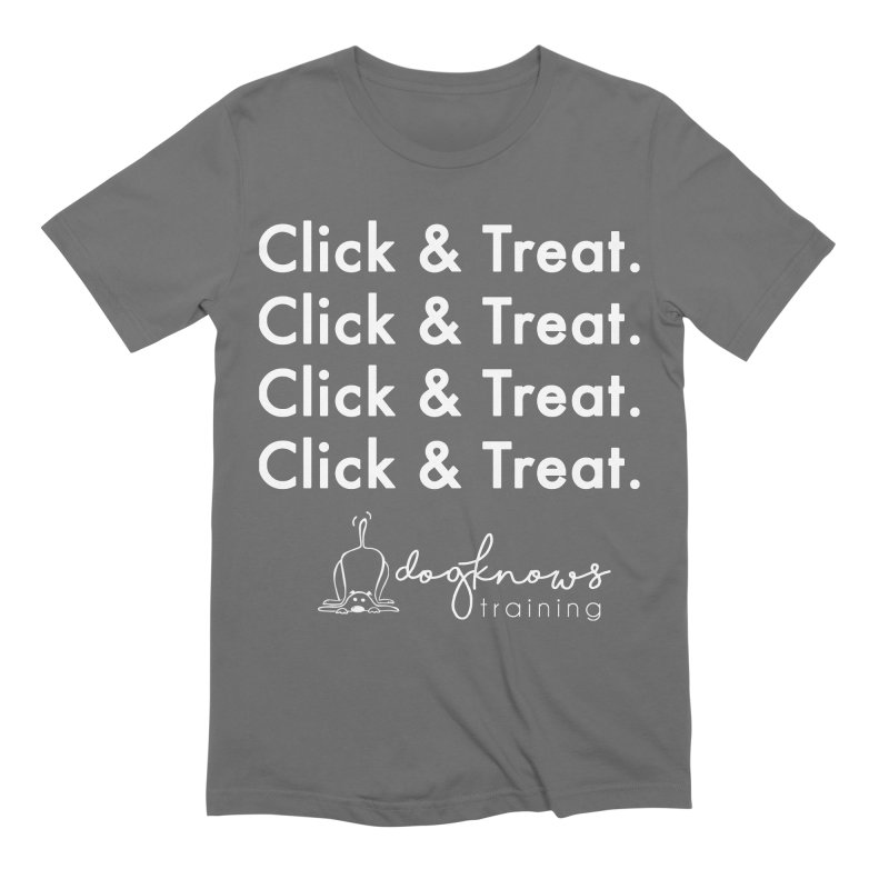 Click & Treat Lite Men's T-Shirt by DogKnows Shop