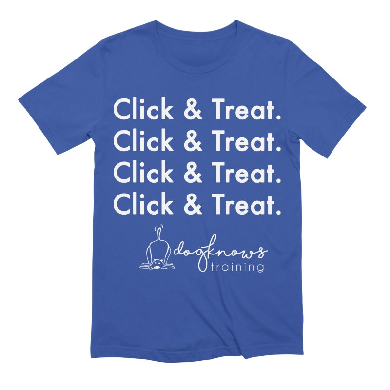 Click & Treat Lite Men's Extra Soft T-Shirt by DogKnows Shop