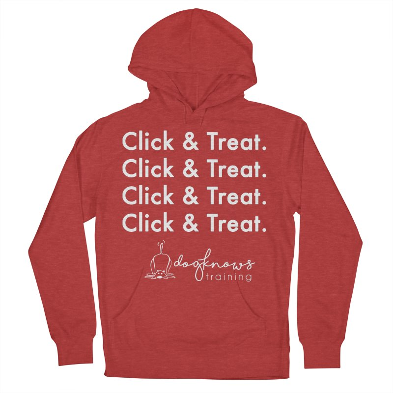 Click & Treat Lite Men's French Terry Pullover Hoody by DogKnows Shop
