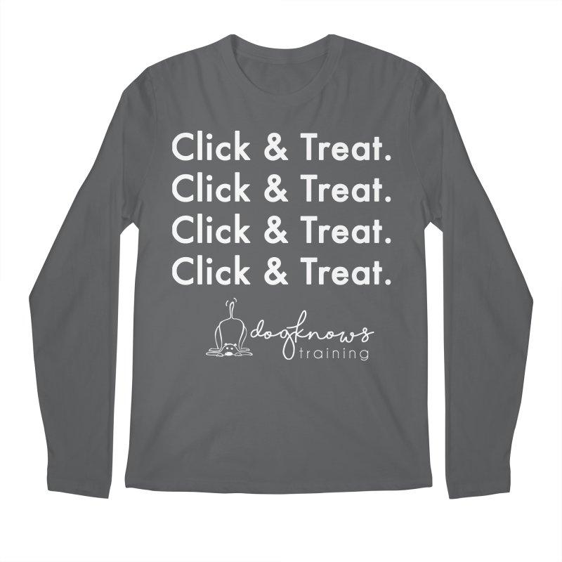 Click & Treat Lite Men's Longsleeve T-Shirt by DogKnows Shop