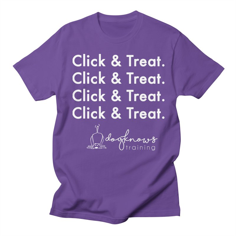 Click & Treat Lite Women's Regular Unisex T-Shirt by DogKnows Shop