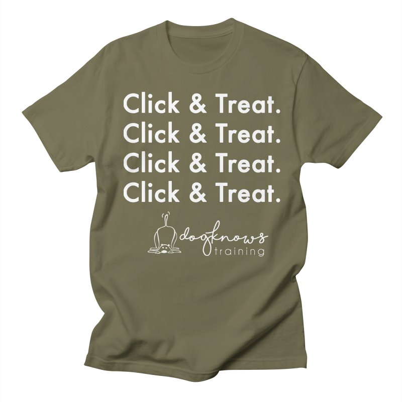 Click & Treat Lite Men's Regular T-Shirt by DogKnows Shop