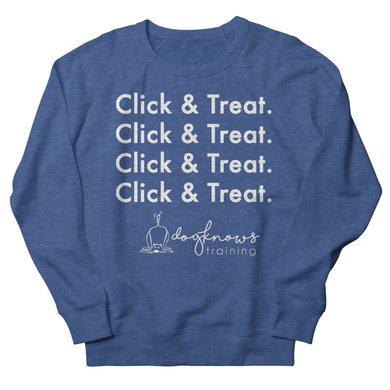 Click & Treat Lite Men's French Terry Sweatshirt by DogKnows Shop