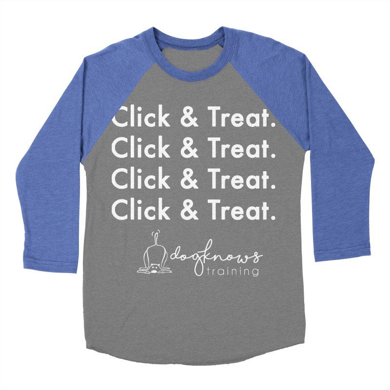 Click & Treat Lite Men's Baseball Triblend Longsleeve T-Shirt by DogKnows Shop
