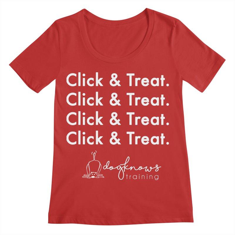Click & Treat Lite Women's Regular Scoop Neck by DogKnows Shop