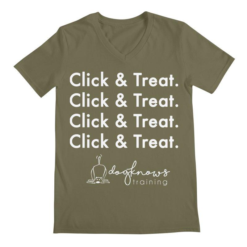 Click & Treat Lite Men's Regular V-Neck by DogKnows Shop