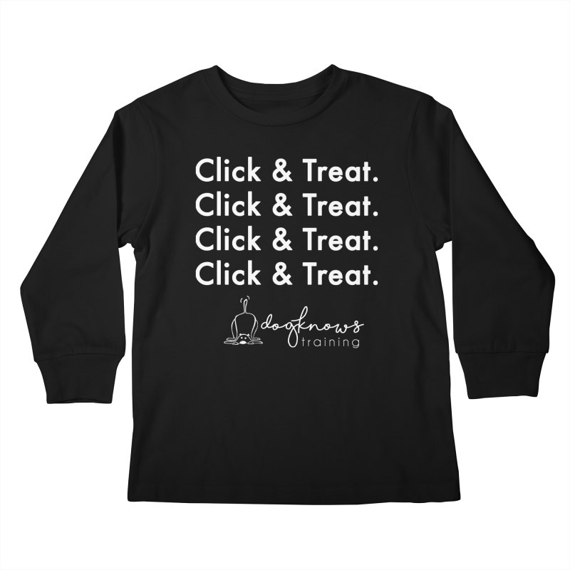 Click & Treat Lite Kids Longsleeve T-Shirt by DogKnows Shop
