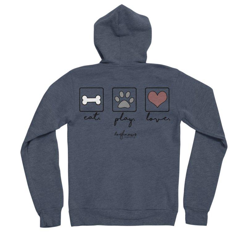 Eat. Play. Love. Men's Sponge Fleece Zip-Up Hoody by DogKnows Shop