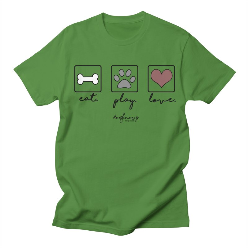Eat. Play. Love. Men's Regular T-Shirt by DogKnows Shop