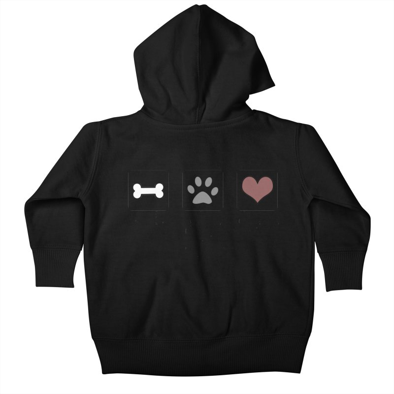 Eat. Play. Love. Kids Baby Zip-Up Hoody by DogKnows Shop